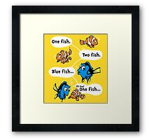 One Fish, Blue Fish Framed Print