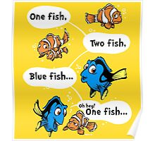 One Fish, Blue Fish Poster