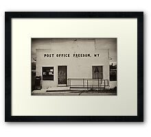 Freedom Wyoming Framed Print