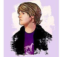 Purple Dog Shirt Sam Photographic Print