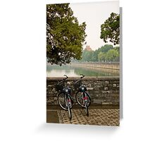 Bicycles in Beijing Greeting Card