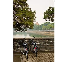 Bicycles in Beijing Photographic Print