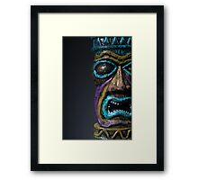 Tiki God Framed Print