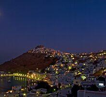 Moon over Astypalea by Konstantinos Arvanitopoulos