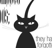 The Well-Read cat - 9 Sticker