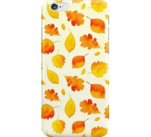 Yellow Autumn Leaves Watercolor iPhone Case/Skin
