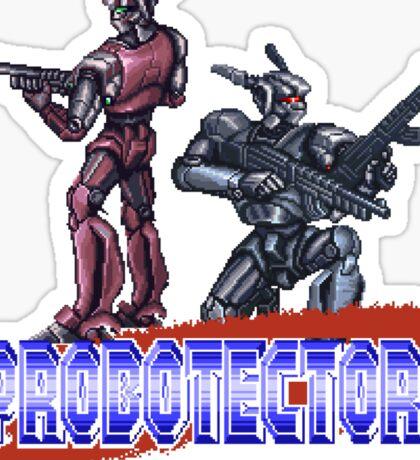 Probotector - SNES Title Screen Sticker