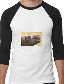 Hippo Men's Baseball ¾ T-Shirt