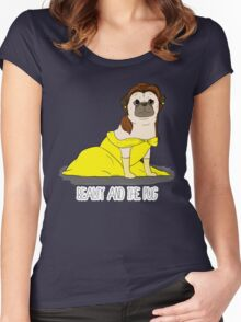 Beauty and the Pug Women's Fitted Scoop T-Shirt