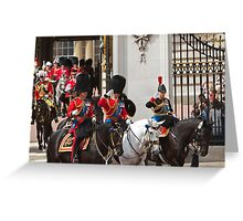 Prince Charles & Princess Anne on horseback again Greeting Card