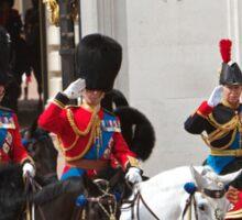 Prince Charles & Princess Anne on horseback again Sticker