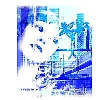 Blue city life Photographic Print