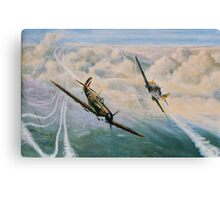 B of B - Spitfire and Me109  Canvas Print