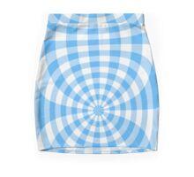 Gingham blue seventies effect Mini Skirt