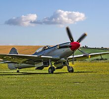 Spitfire FR.XVIIIe SM845/R G-BUOS taxying in by Colin Smedley