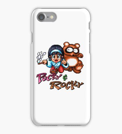 Pocky & Rocky - SNES Title Screen iPhone Case/Skin