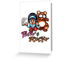 Pocky & Rocky Greeting Card