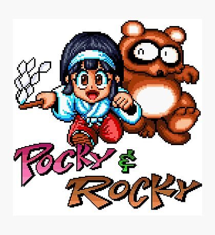 Pocky & Rocky - SNES Title Screen Photographic Print