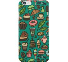 Coffee and pastry iPhone Case/Skin