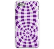 Gingham Lilac seventies effect iPhone Case/Skin