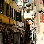 Shops in Corfu, Greece by John  McCoy