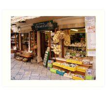 More shops in Corfu, Greece Art Print