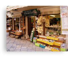 More shops in Corfu, Greece Canvas Print