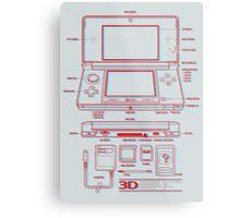 3DS Metal Print