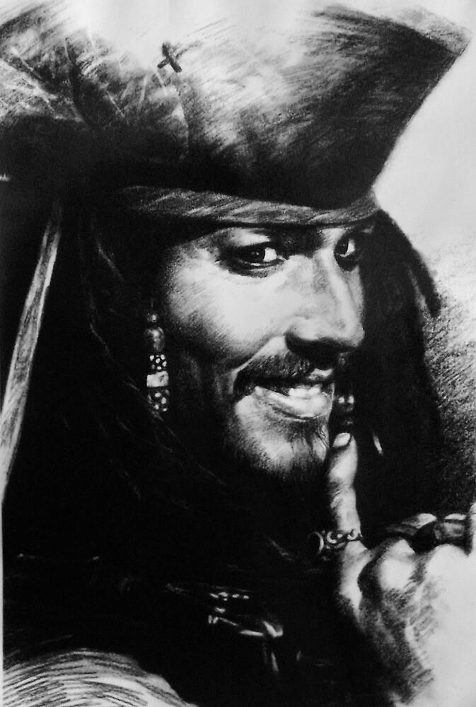 Captain Jack Sparrow by Valerie Burke