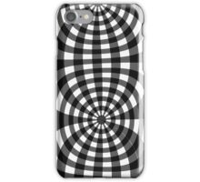 Gingham black seventies effect iPhone Case/Skin