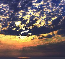 Threatening sky in the evening. by Allan McKean