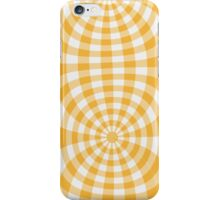 Gingham yellow seventies effect iPhone Case/Skin