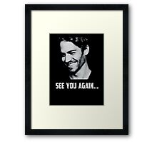 Paul Walker see you again Framed Print
