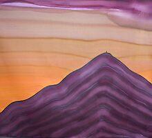 Sunset behind Glastonbury Tor by Jan Billings
