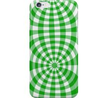 Gingham lime green seventies effect iPhone Case/Skin
