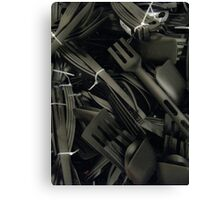 plastics in black Canvas Print