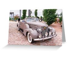 Cars as Art: Cadillac 1941 Roadster Greeting Card