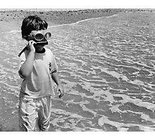 Goggle Man Photographic Print