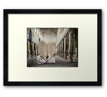 At the Colonnade Framed Print