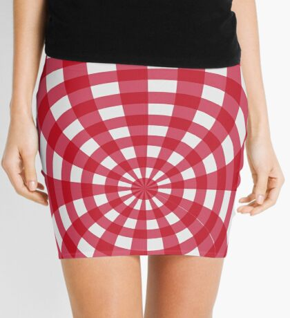 Gingham red seventies effect Mini Skirt