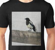 Black and White Bird Unisex T-Shirt