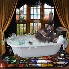 Bunny Bubble Bath by F.A. Moore