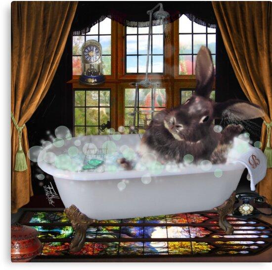 Bunny Bubble Bath by F.A. Moore
