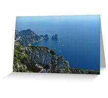 The Faraglioni Rocks - Capri Italy Greeting Card