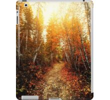 Red Forest, Washington in November iPad Case/Skin