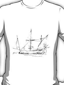 Sketch of a Sailboat  T-Shirt