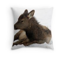 Elk Calf Throw Pillow