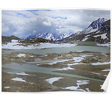 Glaciers on the Bernina Pass  Poster