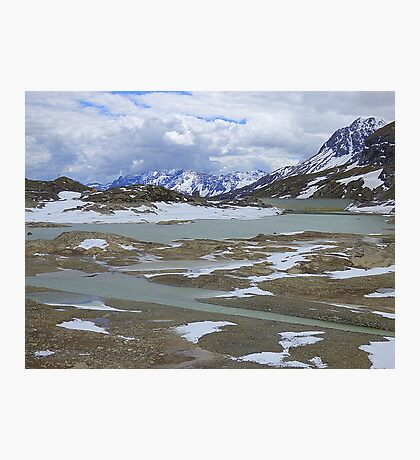 Glaciers on the Bernina Pass  Photographic Print