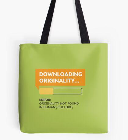 Downloading Originality Tote Bag